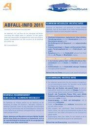 ABFALL-INFO 2011 - Gemeinde Schwellbrunn