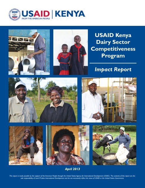 USAID Kenya Dairy Sector Competitiveness Program Impact Report