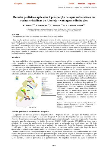 Métodos geofísicos aplicados à prospecção de água subterrânea ...