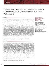 análise exploratória em química analítica com ... - Revista Analytica