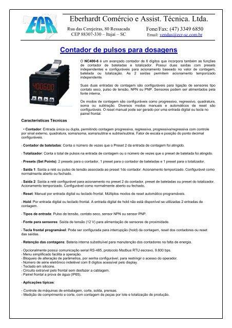 Veja mais detalhes do produto baixe o catalogo - ecr-sc.com f7c41978204f1
