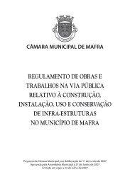 Regulamento - Câmara Municipal de Mafra
