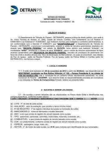 Nº015 - Detran PR - Estado do Paraná