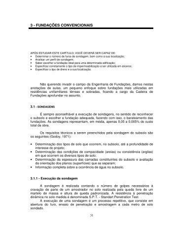 3 - FUNDAÇÕES CONVENCIONAIS - Demilito.com.br