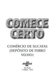Comércio de sucatas (depósito de ferro velho)_II.indd - Sebrae SP