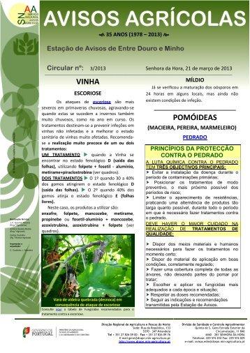03 / 2013 - Direcção Regional de Agricultura e Pescas do Norte