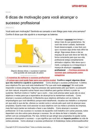 6 dicas de motivação para você alcançar o sucesso profissional