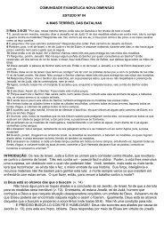 COMUNIDADE EVANGÉLICA NOVA DIMENSÃO ESTUDO Nº 04 A ...