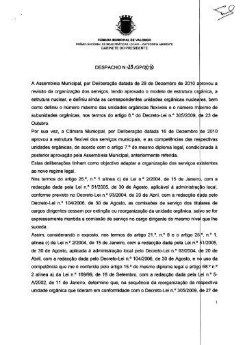 Recondução Comissão de Serviço - Câmara Municipal de Valongo