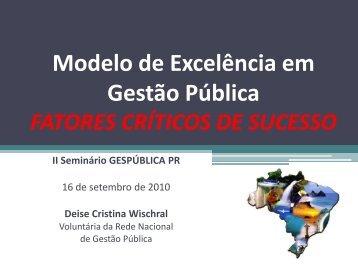 Deise Cristina Wischral - Prefeitura de Pinhais