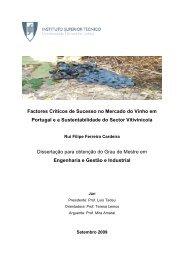 Factores Críticos de Sucesso no Mercado do Vinho em Portugal e a ...