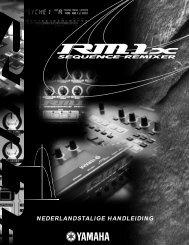 Yamaha RM1x Manual
