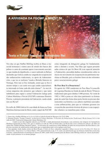 A ARRIBADA DA FGCMF A BREST 08 Texto e Fotos: Francisco ...