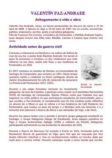 Valentín Paz-Andrade. Vida e obra - Xunta de Galicia