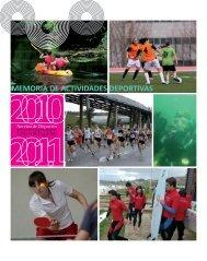 memoria de actividades do curso 2010/2011 - Servizo de Deportes ...