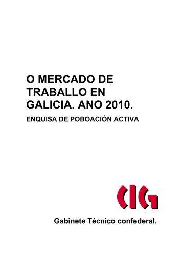 O Mercado de Traballo en Galiza. Ano 2010 - forGA