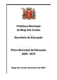 Biênio 2009-2010 - Secretaria Municipal de Educação - Mogi das ...