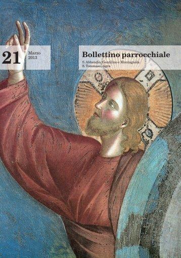 Bollettino 21 - Parrocchia di Sant'Abbondio