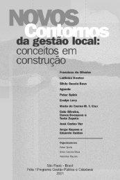 Novos contornos da gestão local: conceitos em construção - Polis