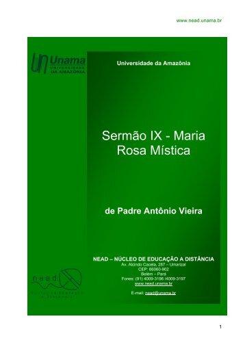 Sermão IX - Maria Rosa Mística - Unama