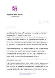 Movimento de Leigos Claretianos Secretário Geral