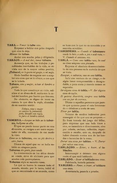 letra t - diccionario de refranes - Español Sin Fronteras