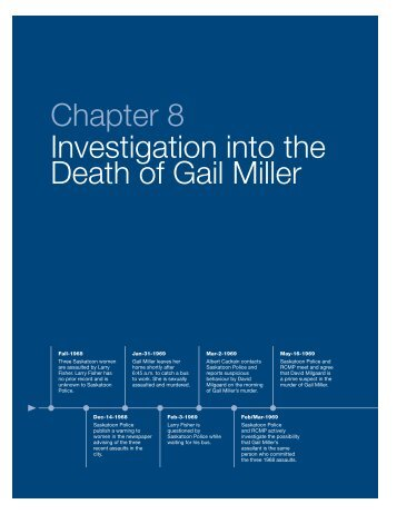 Chapter 8 Investigation into the Death of Gail Miller