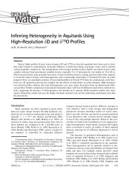 Inferring Heterogeneity in Aquitards Using High-Resolution D and ...