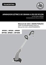 APARADOR ELÉTRICO DE GRAMA A FIO DE NYLON - Tramontina