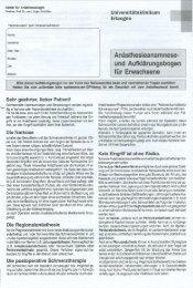 Anästhesieanamnese- und Aufklärungsbogen - Anästhesiologische ...