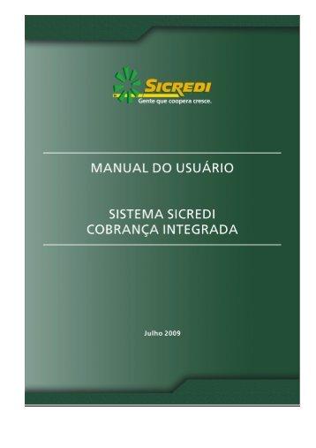 Manual SSCI - Sistema SICREDI Cobrança Integrada