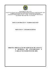 objeto: prestação de serviços de coleta e remessa de ... - Inep