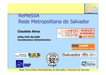 PROJETO REMESSA - Claudete Alves - Governo da Bahia