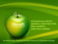 integralna zaštita jabuke u atos fructum, mala remeta 2009 ... - Izbis