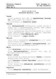 Belvárosi Plébánia Szekszárd Béla tér 9. 2009. december 31. Év ...