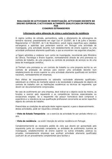 nota informativa - Serviço de Estrangeiros e Fronteiras