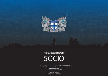 proposta de admissão de sócio - Colectivo Ultras 95