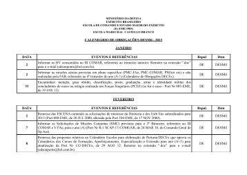 CALENDÁRIO DE OBRIGAÇÕES DESMil - 2013 JANEIRO DATA ...