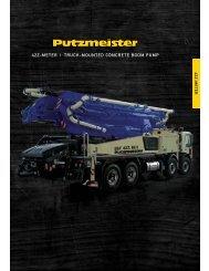 42z-meter   truck-mounted concrete boom pump - Putzmeister America