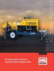 Mayco Concrete Masonry Pumps Brochure - Multiquip Inc