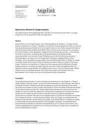 Datenschutz-Hinweis für Google Analytics - Yourposition GmbH