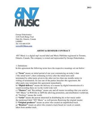 10 Music Contracts - Unesco