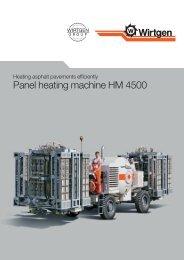 Panel heating machine HM 4500 - Wirtgen GmbH