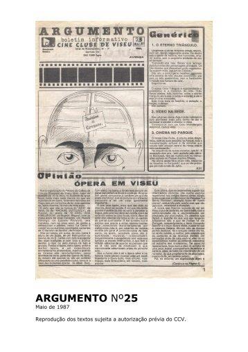 Argumento nº25 - Cine Clube de Viseu