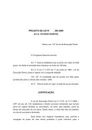 PROJETO DE LEI No , DE 2009 JUSTIFICAÇÃO