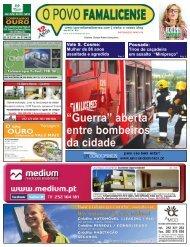 """""""Guerra"""" aberta entre bombeiros da cidade - O Povo Famalicense"""