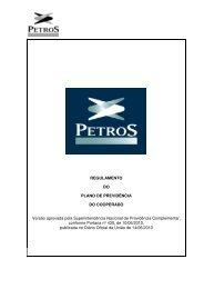 Download do Regulamento do Plano - Petros