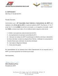 Carta ANTP 033/2013