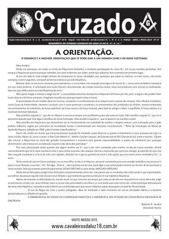 Jornal O CRUZADO - MARÇO/ABRIL/MAIO/2011 - A:.R:.L:.S ...