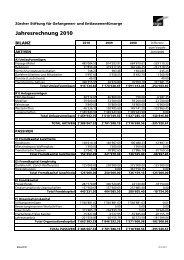 Jahresrechnung 2010 - zsge